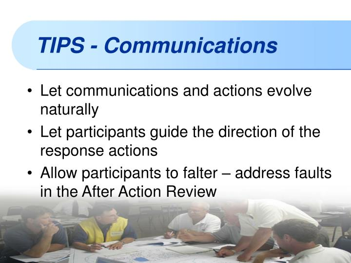Let communications and actions evolve naturally