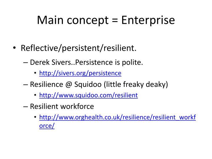 Main concept = Enterprise