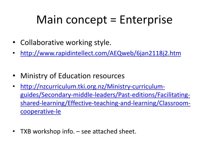 Main concept = Enterprise