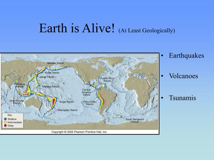 earth is alive at least geologically