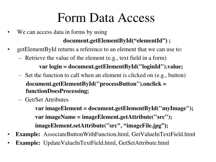 Form Data Access