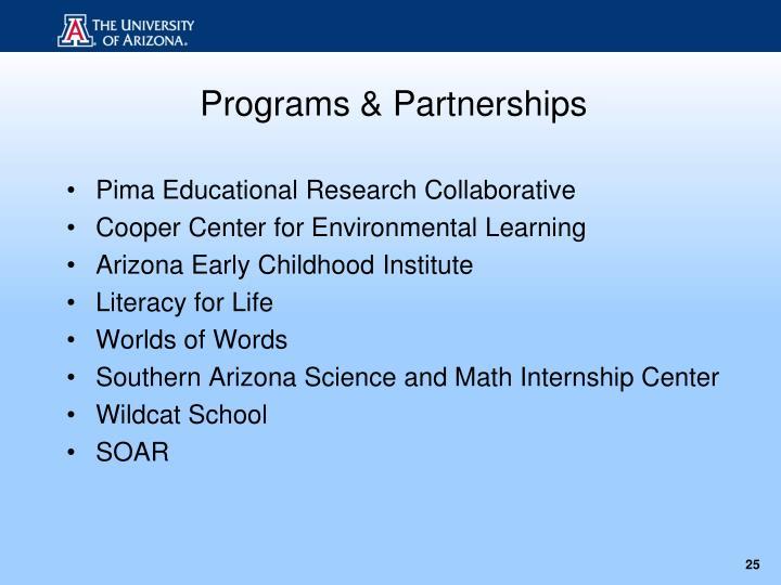 Programs & Partnerships