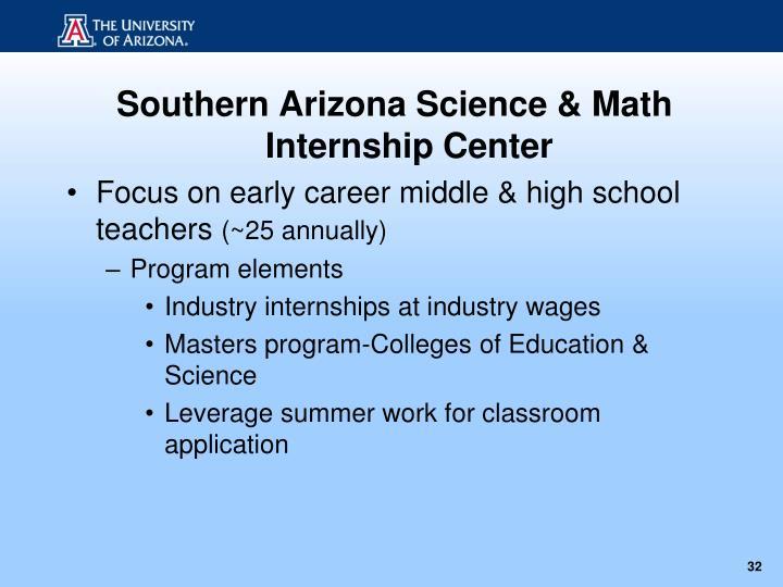 Southern Arizona Science & Math Internship Center