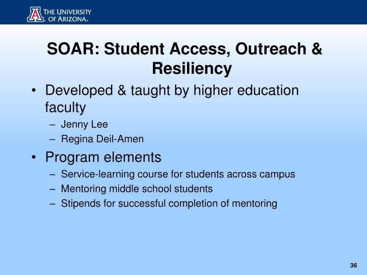 SOAR: Student Access, Outreach & Resiliency