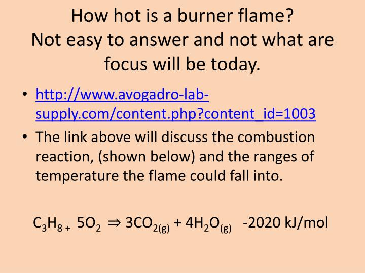 How hot is a burner flame?