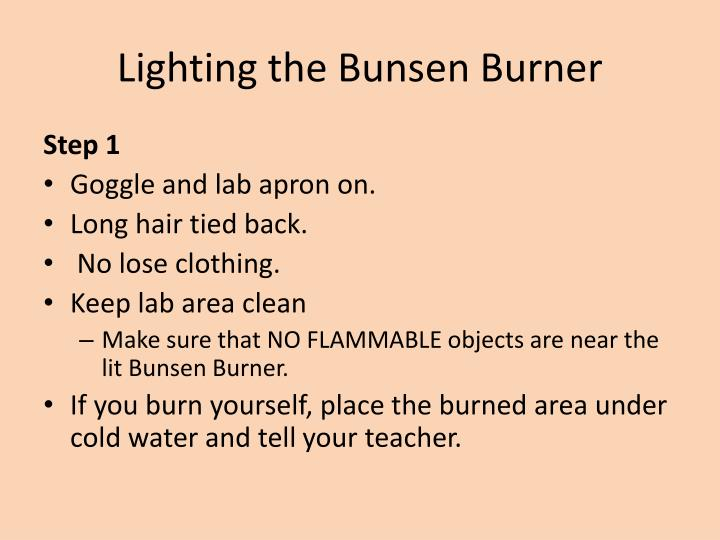 Lighting the Bunsen Burner