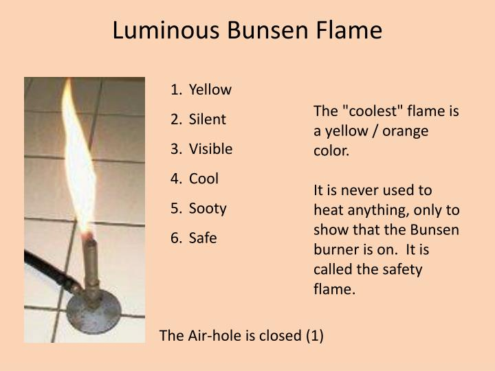 Luminous Bunsen Flame