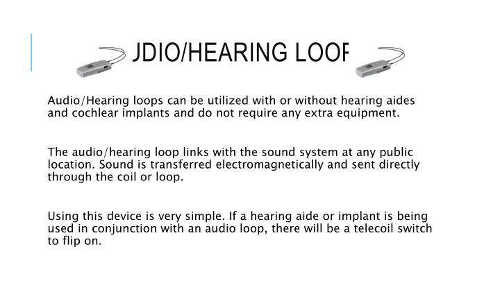 Audio/hearing loops