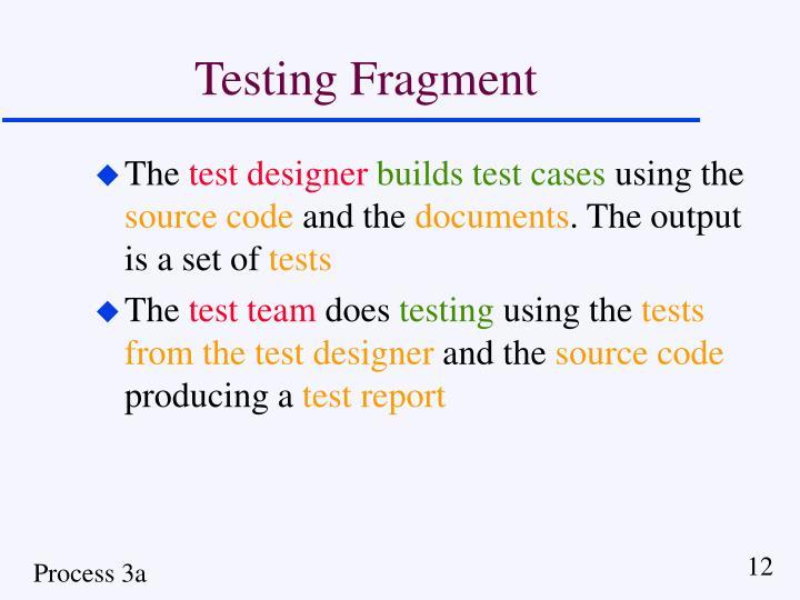 Testing Fragment