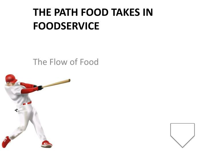 The path food takes in foodservice