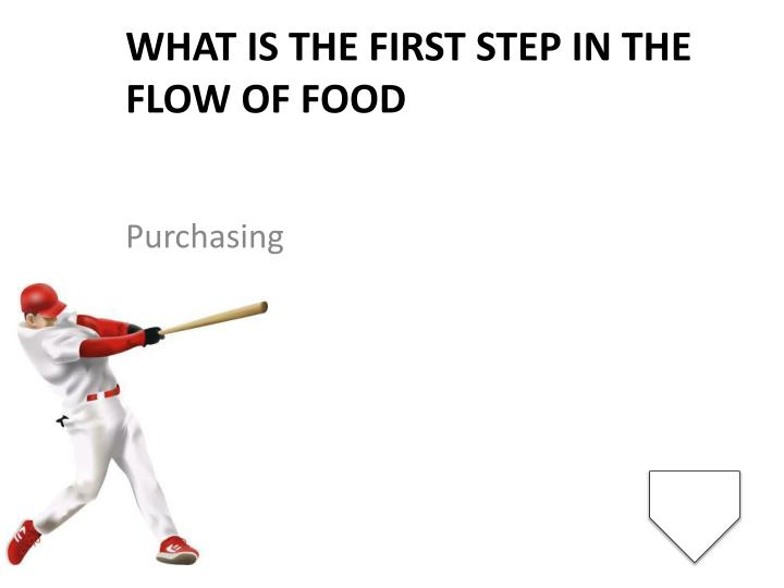 What is the first step in the flow of food