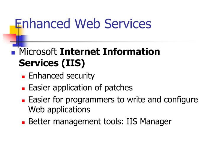 Enhanced Web Services