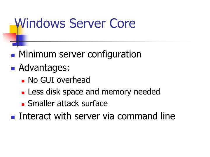 Windows Server Core