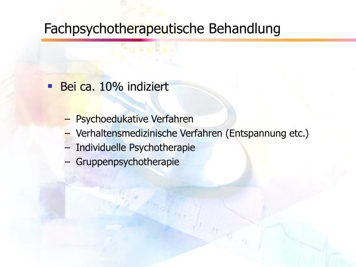 Fachpsychotherapeutische Behandlung