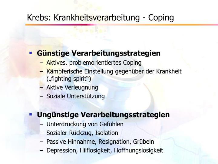 Krebs: Krankheitsverarbeitung - Coping