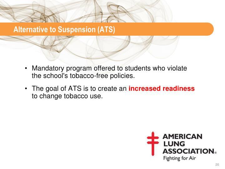 Alternative to Suspension (ATS)