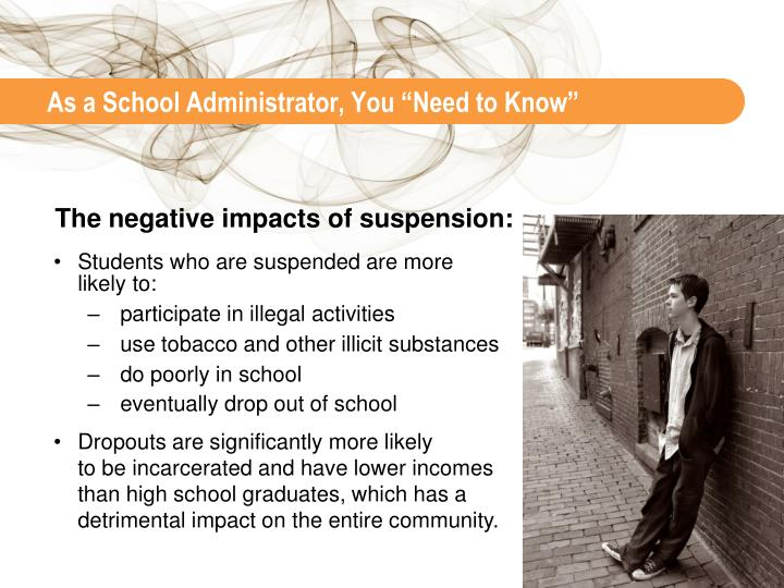 """As a School Administrator, You """"Need to Know"""""""