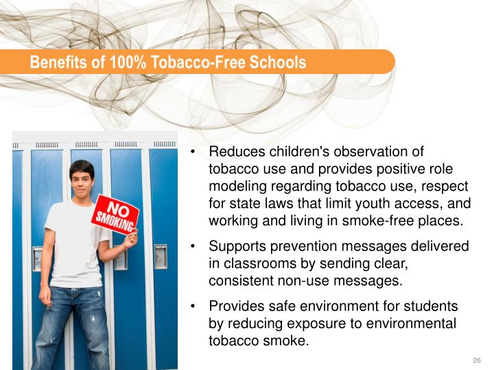 Benefits of 100% Tobacco-Free Schools