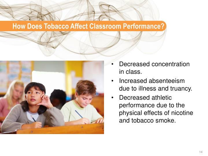How Does Tobacco Affect Classroom Performance?