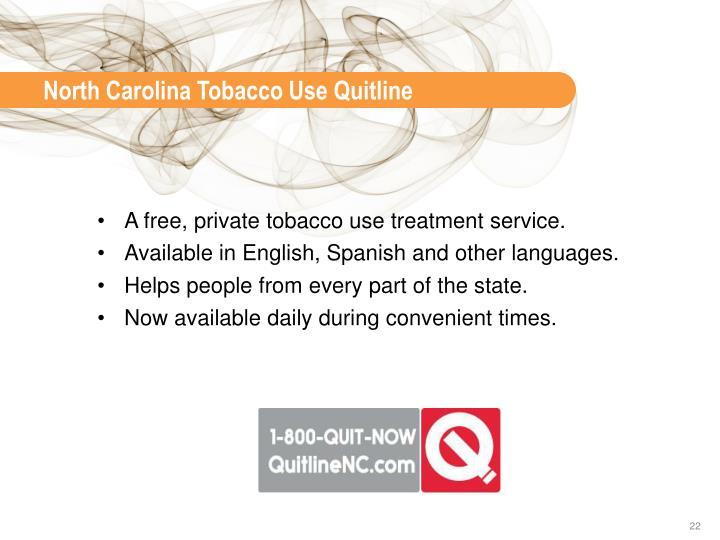 North Carolina Tobacco Use Quitline