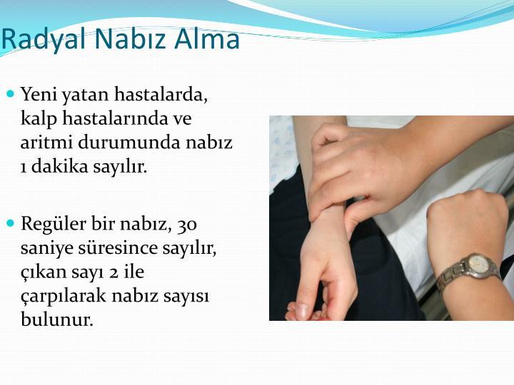 Radyal Nabız Alma