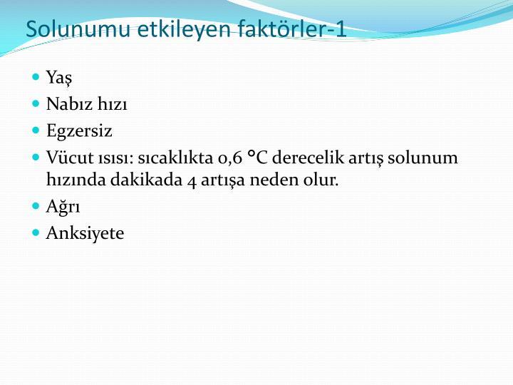 Solunumu etkileyen faktörler-1