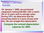 change in estimates example