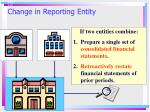 change in reporting entity2