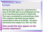 extraordinary items example