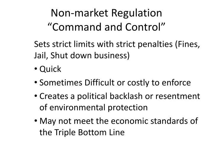 Non-market Regulation