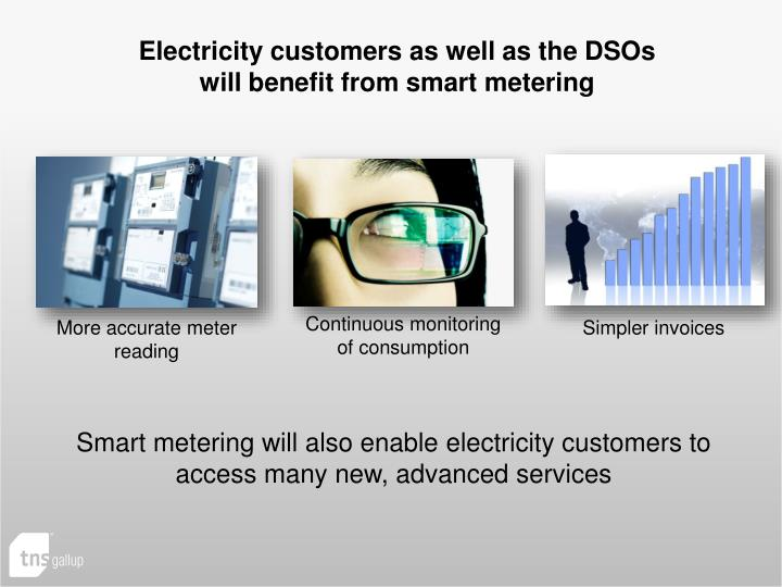 Electricity customers as well as the DSOs
