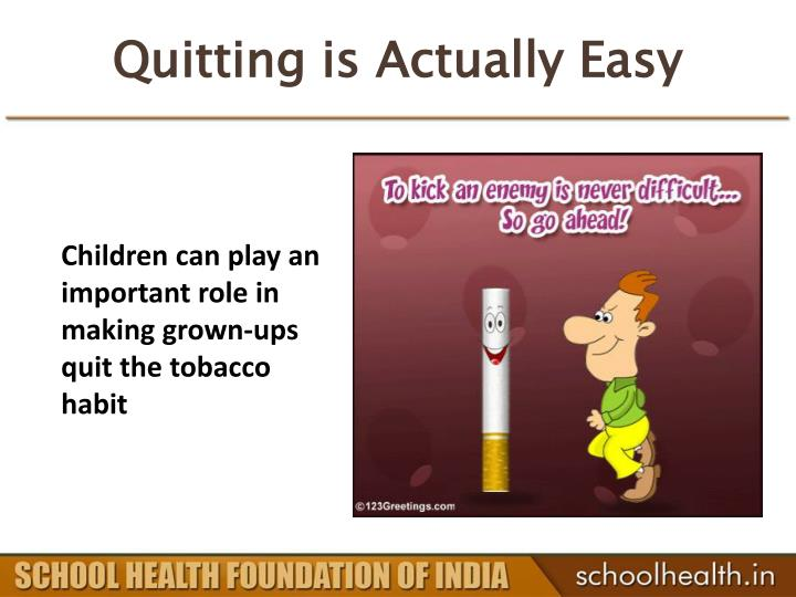 Quitting is Actually Easy