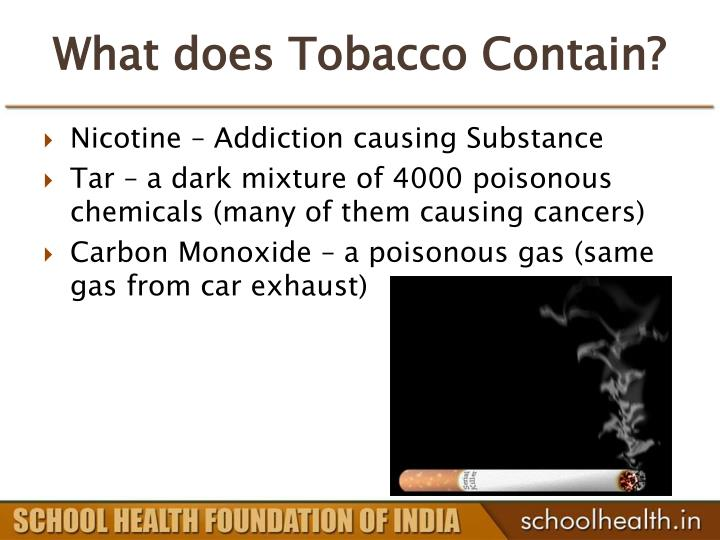 What does Tobacco Contain?