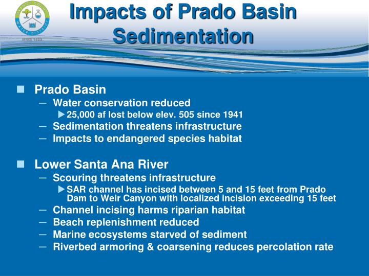 Impacts of Prado Basin Sedimentation
