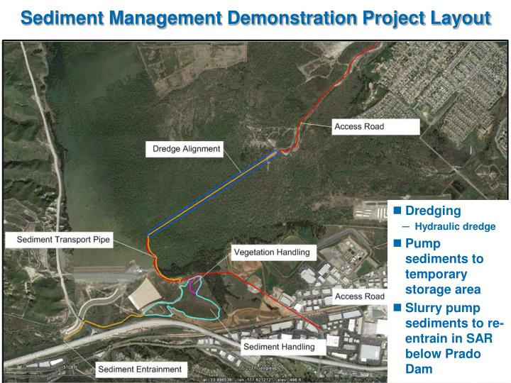 Sediment Management Demonstration Project Layout