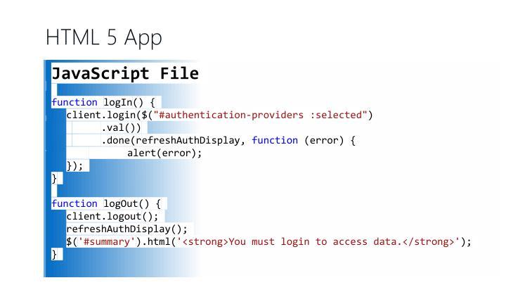 HTML 5 App