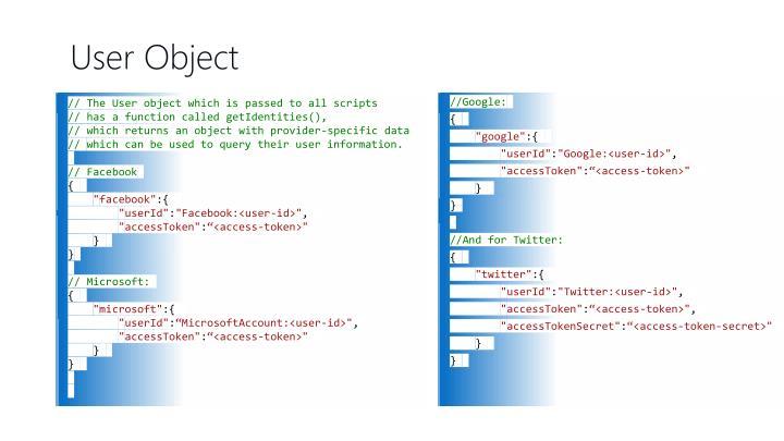 User Object