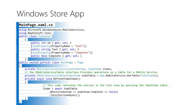 Windows Store App