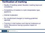 verification of marking1
