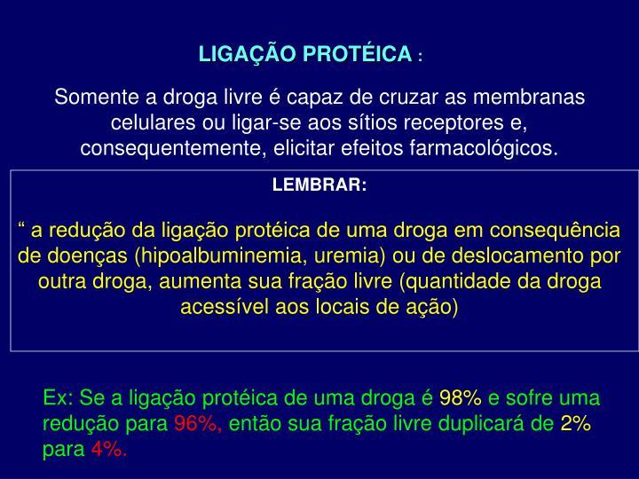 LIGAÇÃO PROTÉICA