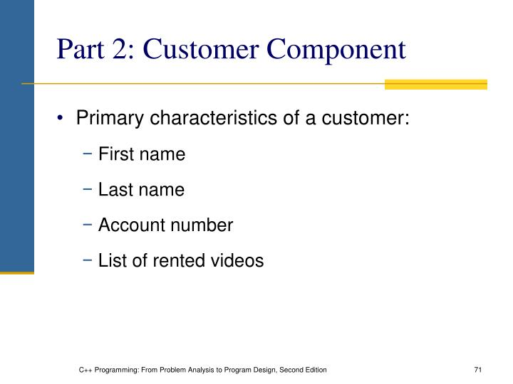Part 2: Customer Component