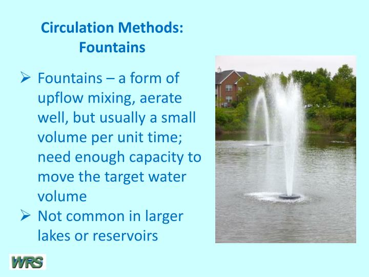 Circulation Methods: Fountains