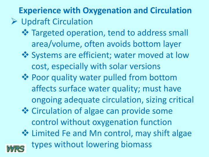 Experience with Oxygenation and Circulation
