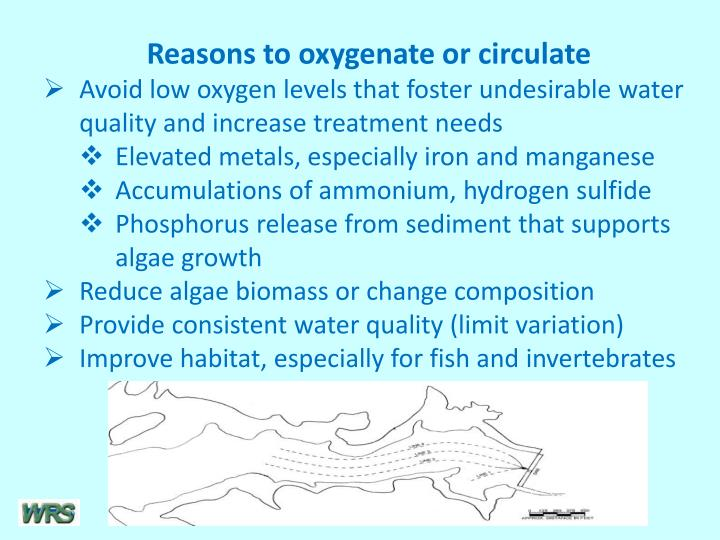 Reasons to oxygenate or circulate