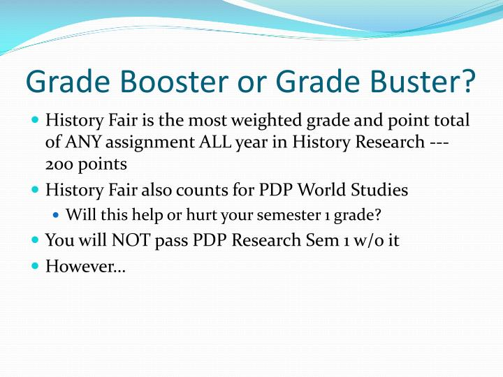 Grade booster or grade buster