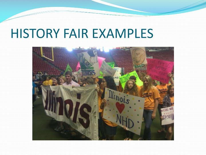 HISTORY FAIR EXAMPLES