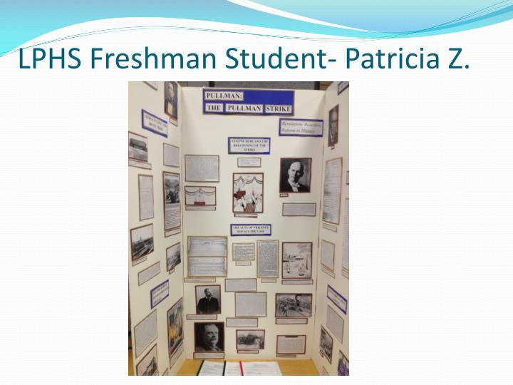 LPHS Freshman Student- Patricia Z.