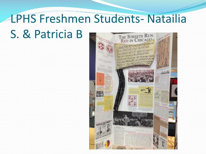 LPHS Freshmen Students-