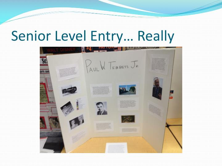 Senior Level Entry… Really