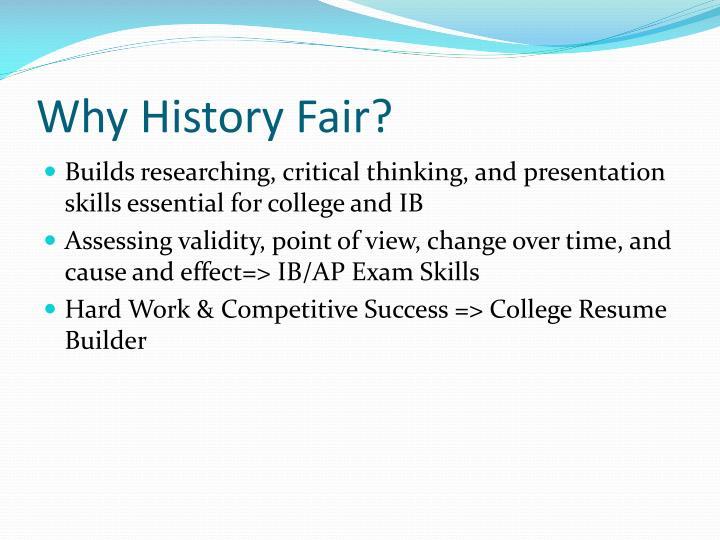 Why History Fair?